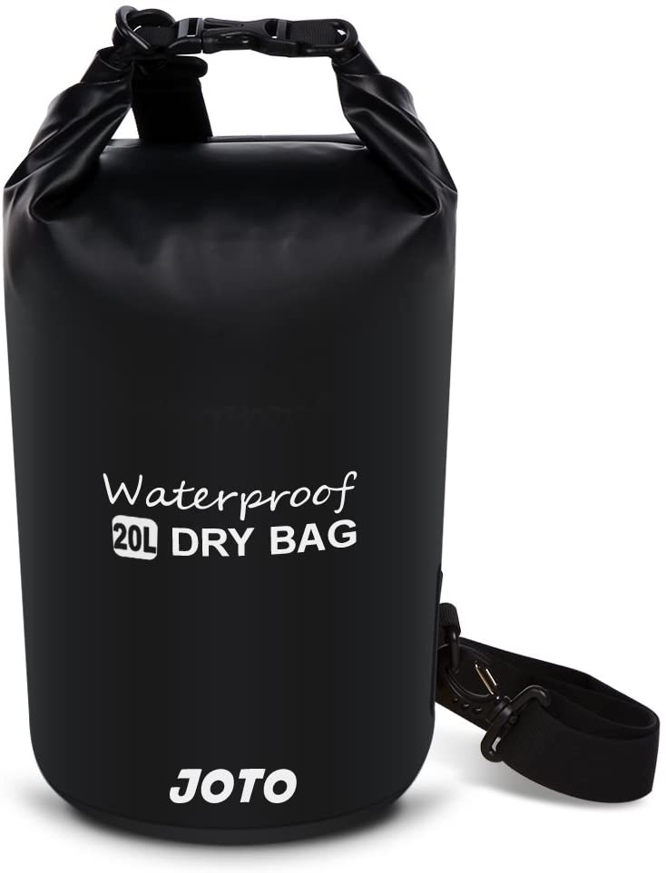 JOTO Dry Bag Sack Backpack 20L Waterproof Dry Bag for Outdoor Activities - Perfect for Boating, Kayaking, Fishing, Rafting, Hiking, Swimming, Floating, Camping [ 20L Floating Dry Bag ] (Black)