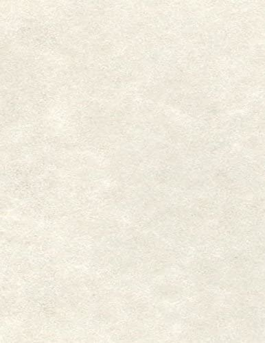 """LUXPaper 8.5"""" x 11"""" Paper for Crafts and Printing in Cream Parchment Scrapbook and Office Supplies, 50 Pack (Cream)"""