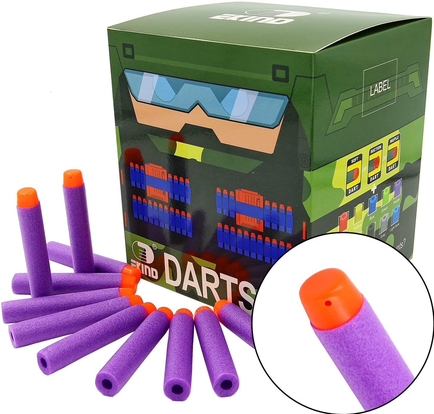 EKIND 200Pcs Darts Refill Foam Bullet Compatible for Nerf N-Strike Elite Guns