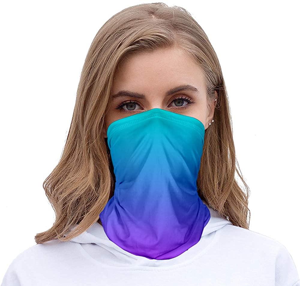 She's Style Reusable Face Mask Bandanas for Women Dust, Outdoors, Festivals, Sports