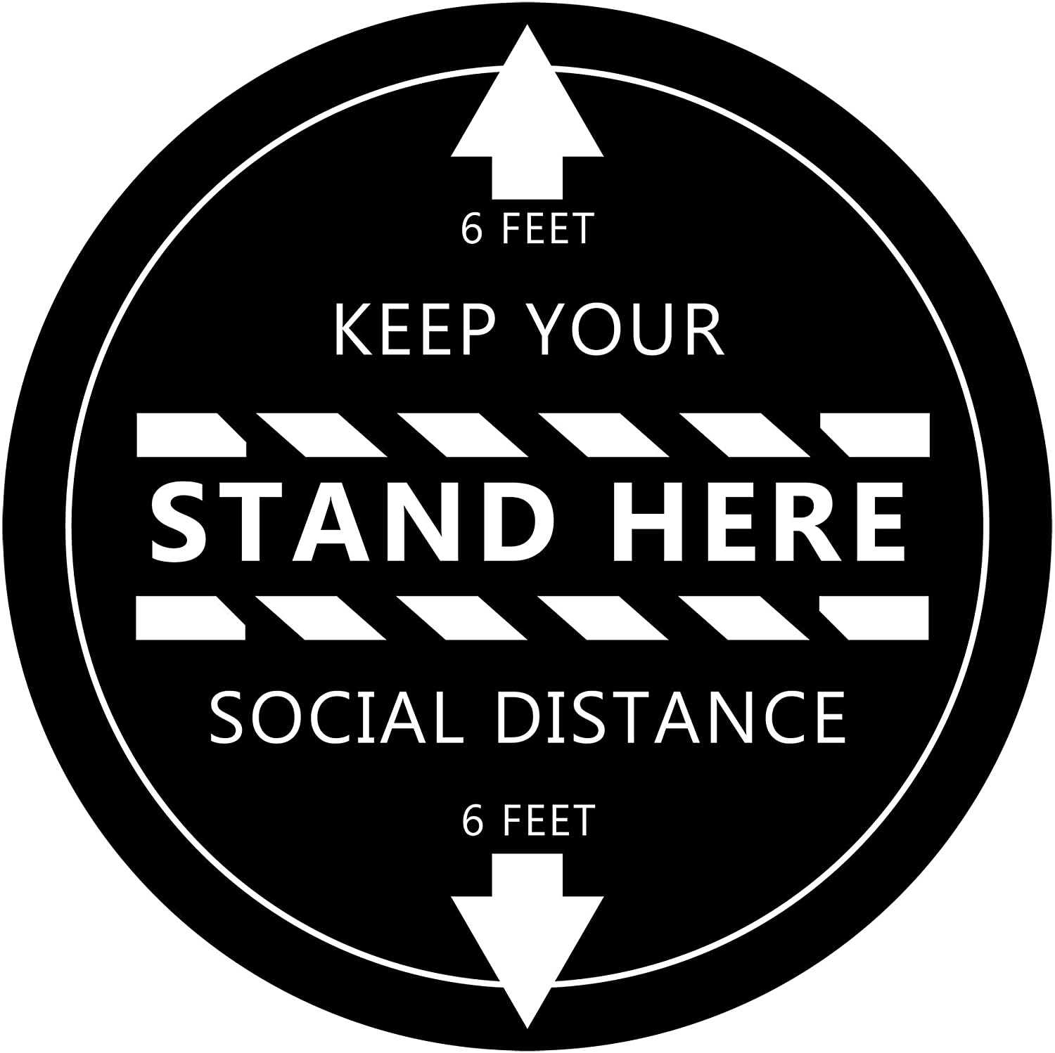 Stand Here Feet Sticker - Floor Decal - 12
