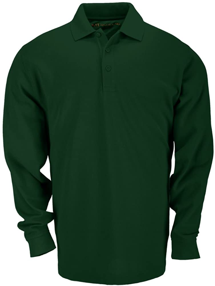 5.11 Tactical Tall Men's Long-Sleeve Professional Polo, L.E. GREEN, Large