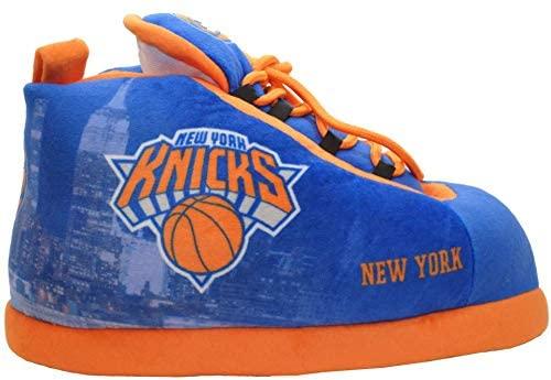 Sleakers New York Knicks Basketball Officially Licensed NBA Sneaker Shoe Slippers Unisex (Medium W 8-10 M 7-9)
