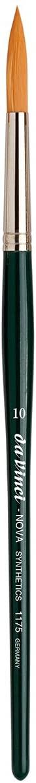 da Vinci Graphic Design Series 1175 Nova Lettering/Showcard Brush, Long Liner Synthetic with Black Handle, Size 6 (1175-6)