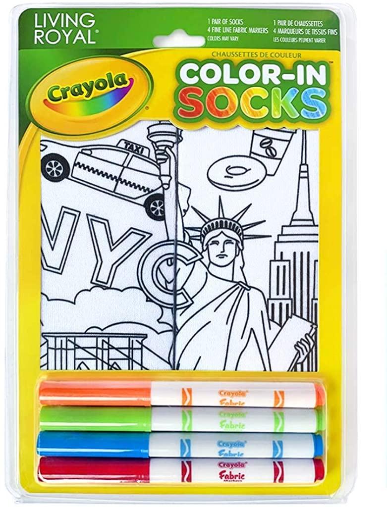 Living Royal Kids Color-In Socks New York State Of Mind