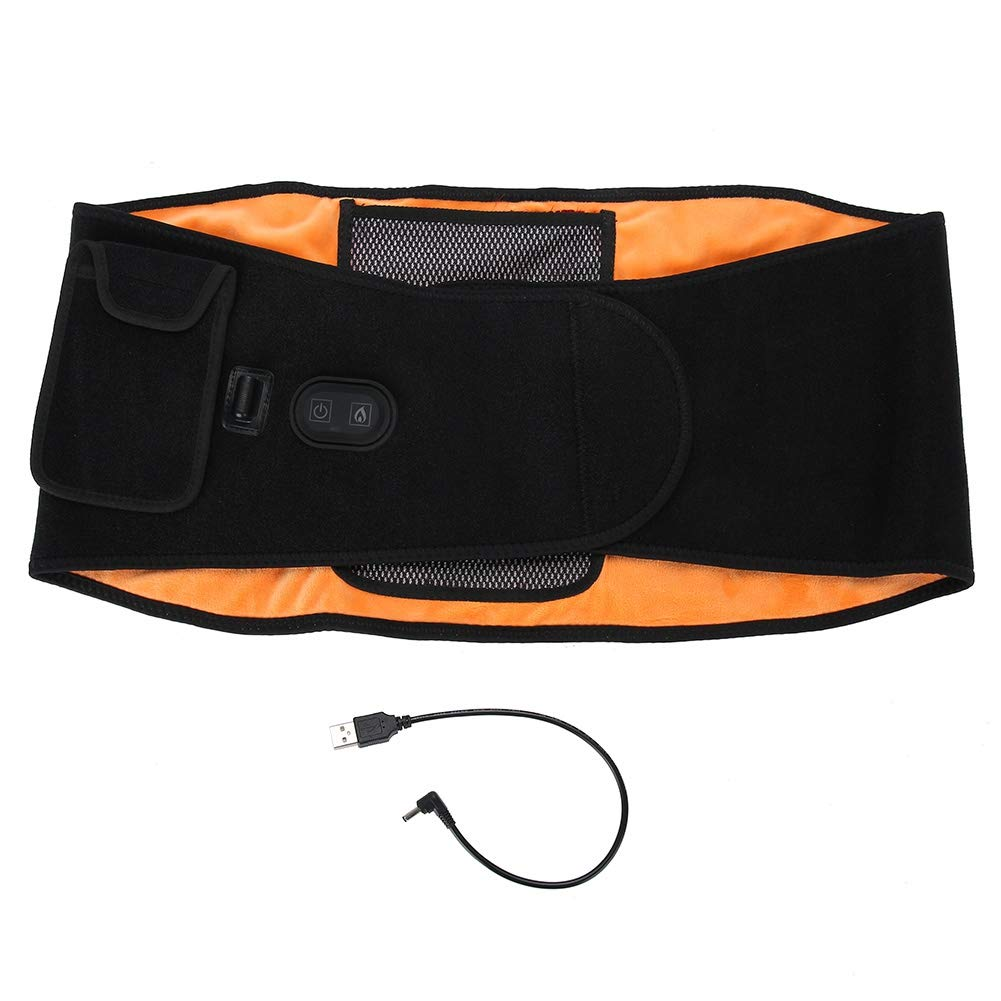 Back Heating Waist Belt Wrap, Lower Back Heating Pad Heating Waist Belt with Far Infrared Heat Therapy Pain Relief for Back Waist Abdominal Stomach Lumbar Thigh Muscle Strain, for Men Women