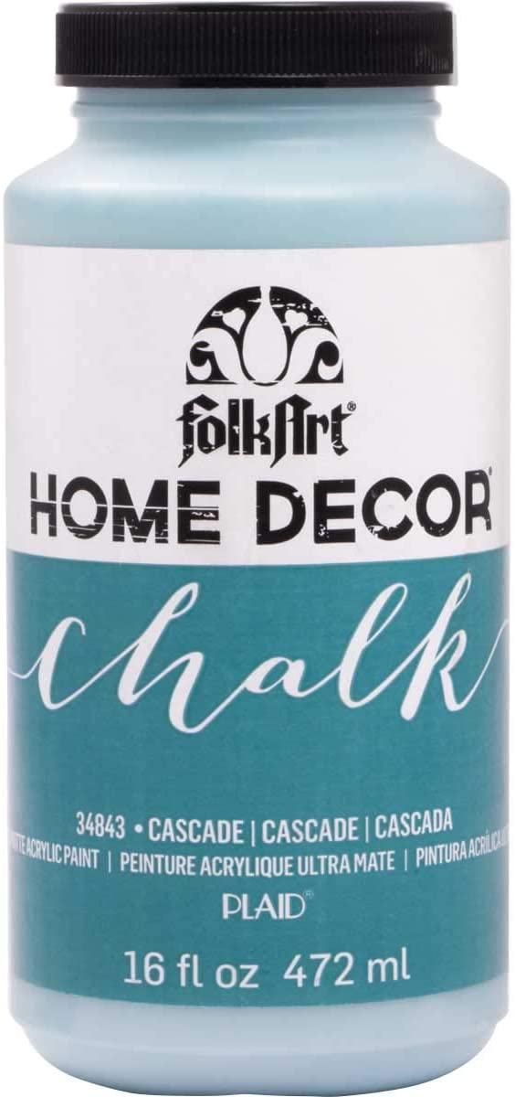 FolkArt Home Decor Chalk Furniture & Craft Paint in Assorted Colors, 16 ounce, Cascade