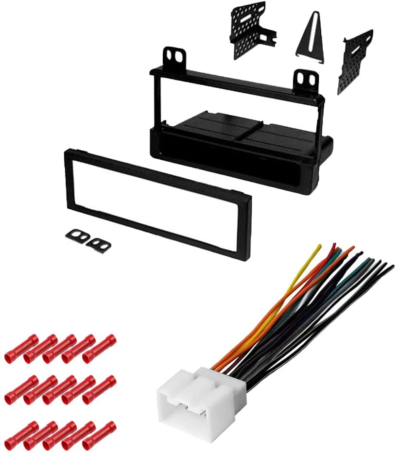 CACHÉ KIT1026 Bundle with Car Stereo Installation Kit for 2004 Ford F150 Heritage – in Dash Mounting Kit, Harness for Single Din Radio Receivers (3 Item)
