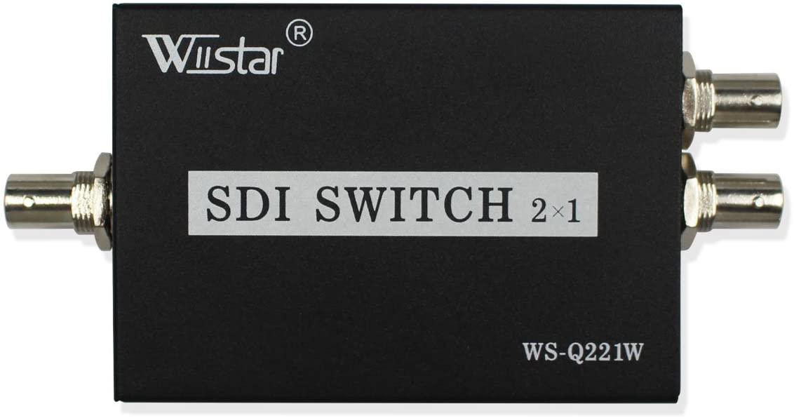 2x1 3Gb/s SDI Switcher with ReClock Technology, Supports SDI, HD-SDI and 3G-SDI Signals (WS-SDI2X1)
