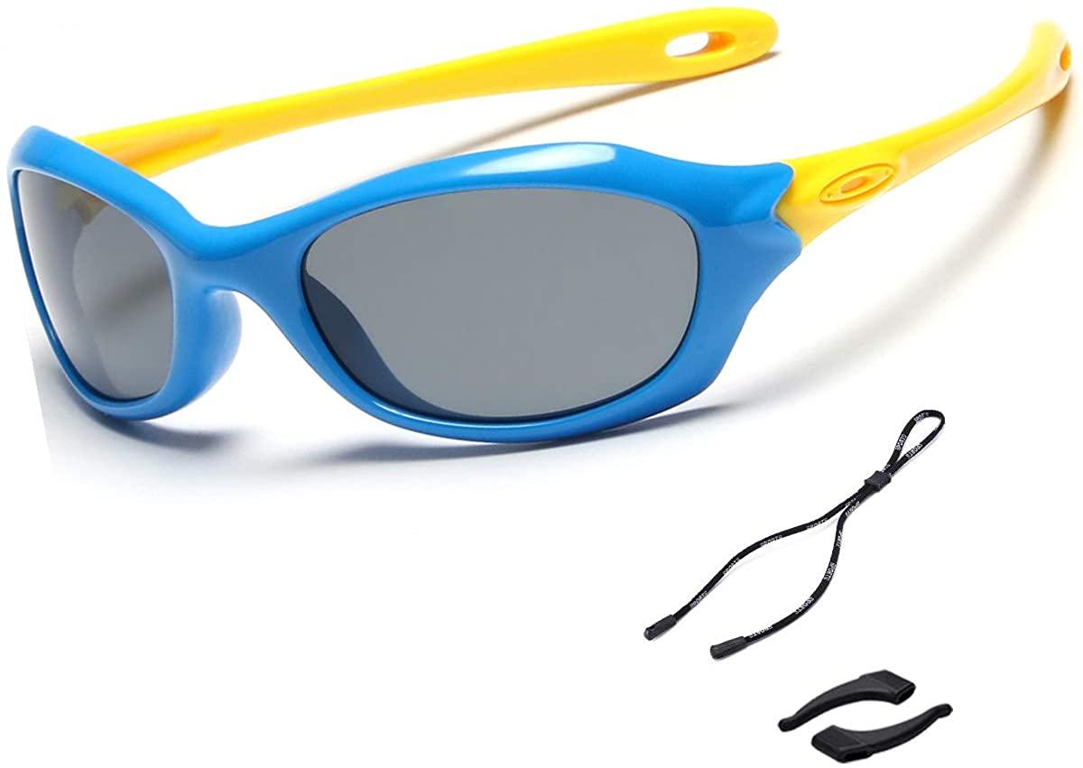 Toddler Girls Sunglasses Polarized UV Protection Sport Outdoor Baseball Party Favors Flexible Sunglasses for Kids Boys