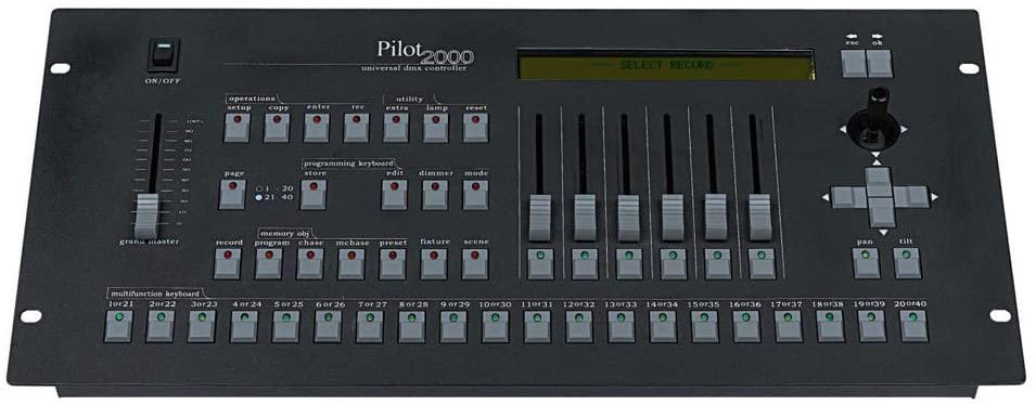 Dmx Console,Pilot2000 Console, Controller Panel Use For Editing Program Of Stage Lighting Runing