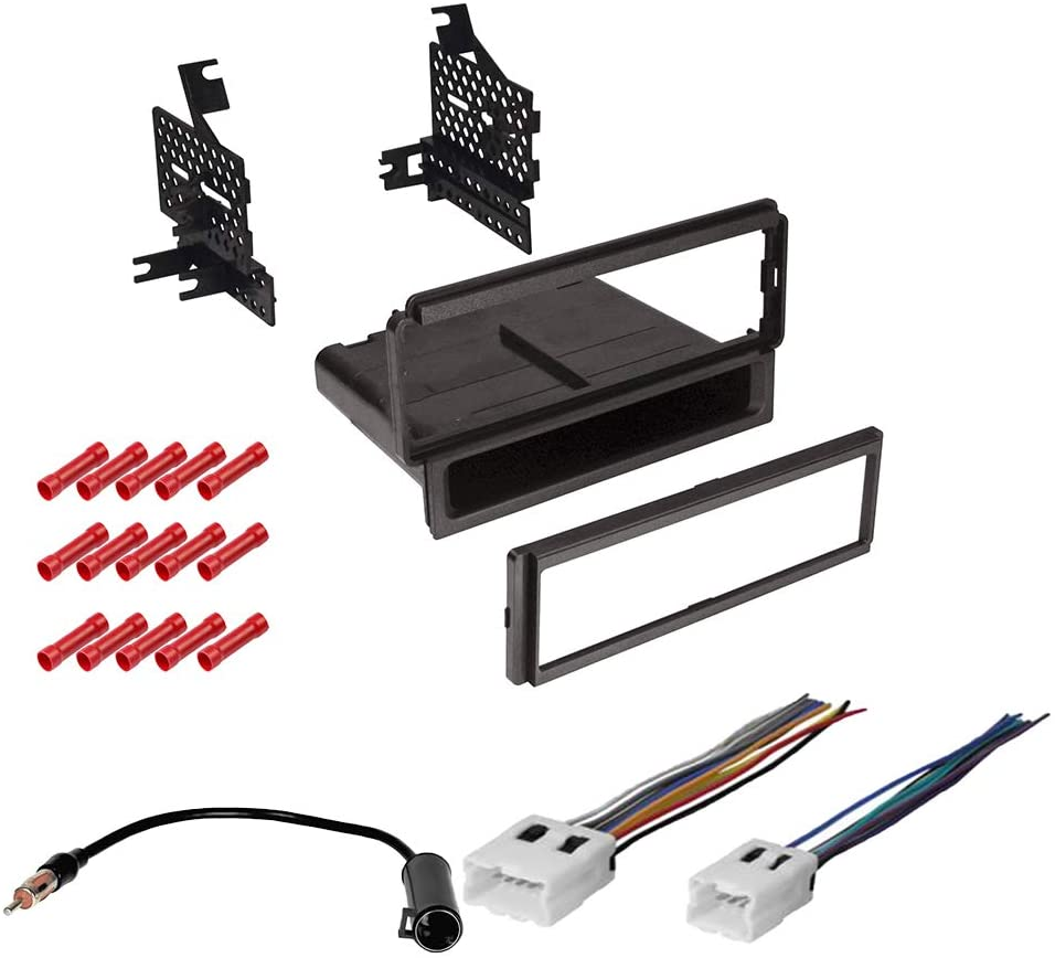 CACHÉ KIT1092 Bundle with Car Stereo Installation Kit for 2005 – 2007 Nissan Pathfinder Without OEM Nav – in Dash Mounting Kit, Harness, Antenna for Single Din Radio Receivers (4 Item)
