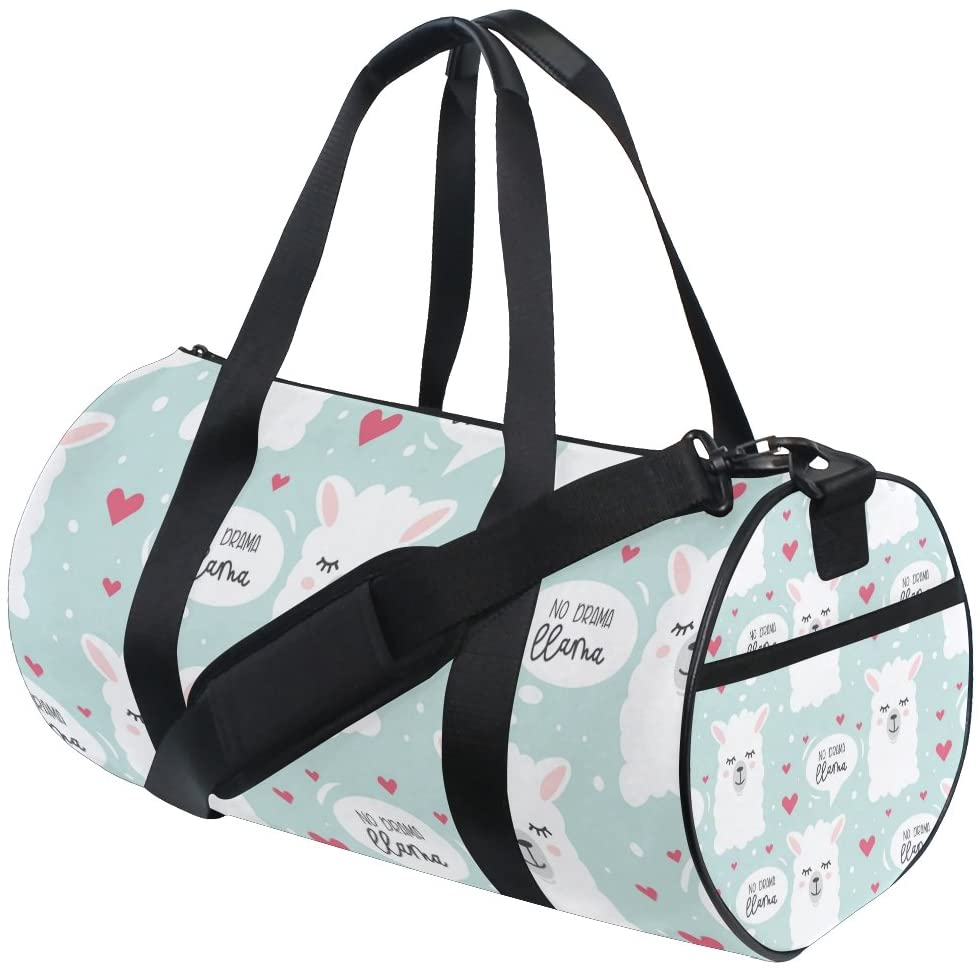 No Drama Llama Travel Duffle Bag Sports Luggage with Backpack Tote Gym Bag for Man and Women