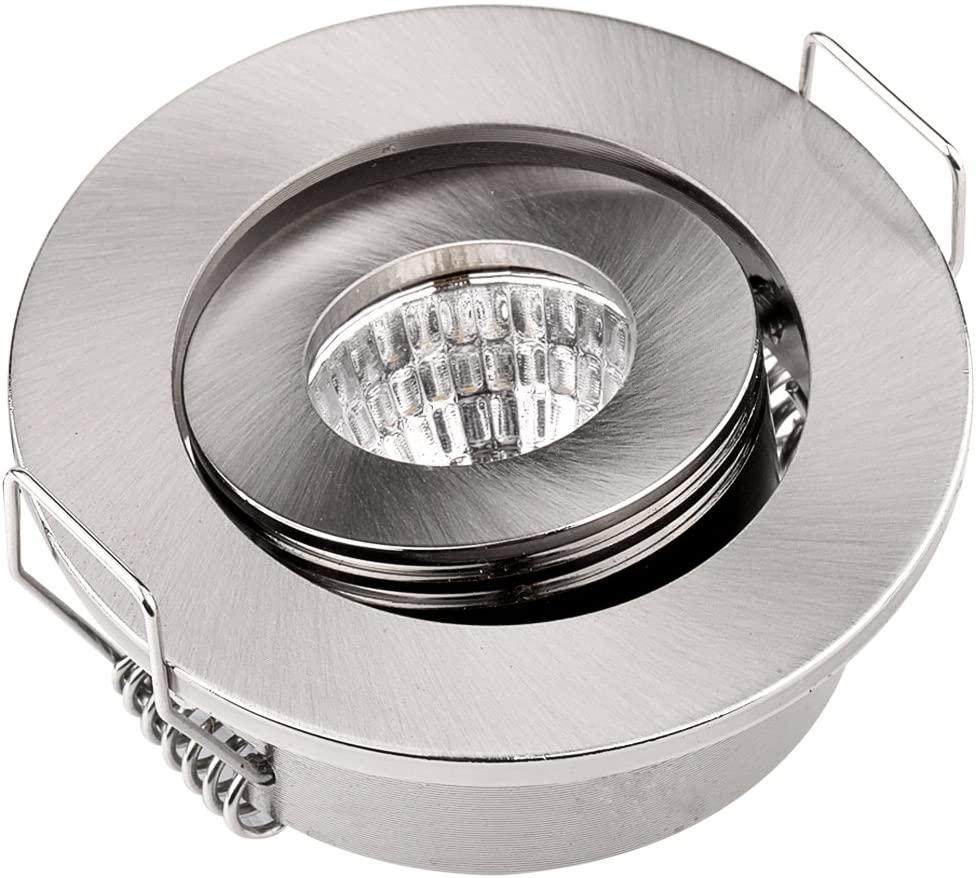 Pack of 10 3W COB LED Lights Mini Adjustable Recessed Downlights 3000K