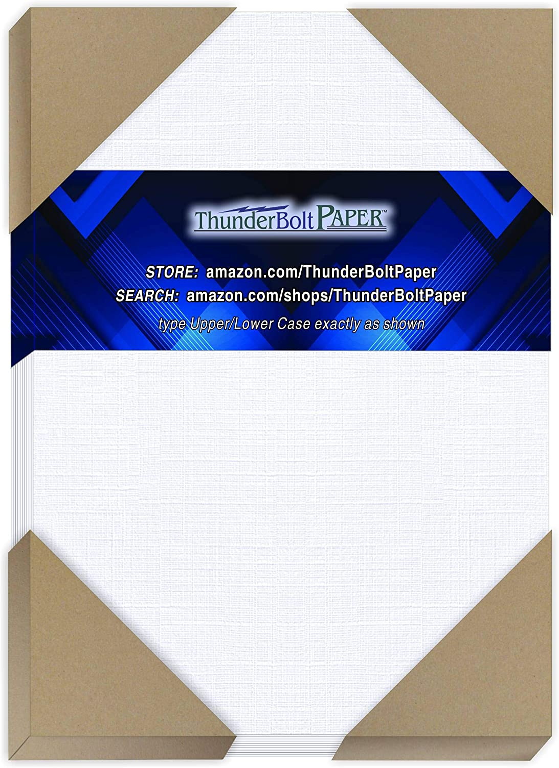 50 White Linen 80# Cover Paper Sheets - 5.5