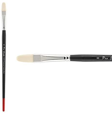 Creative Mark Pro Stroke Powercryl Paint Brush Professional Acrylic Brush with Synthetic Hair Filament Use with Acrylic Paint and Water Soluble Oils - Single Brush Only - Filbert 8