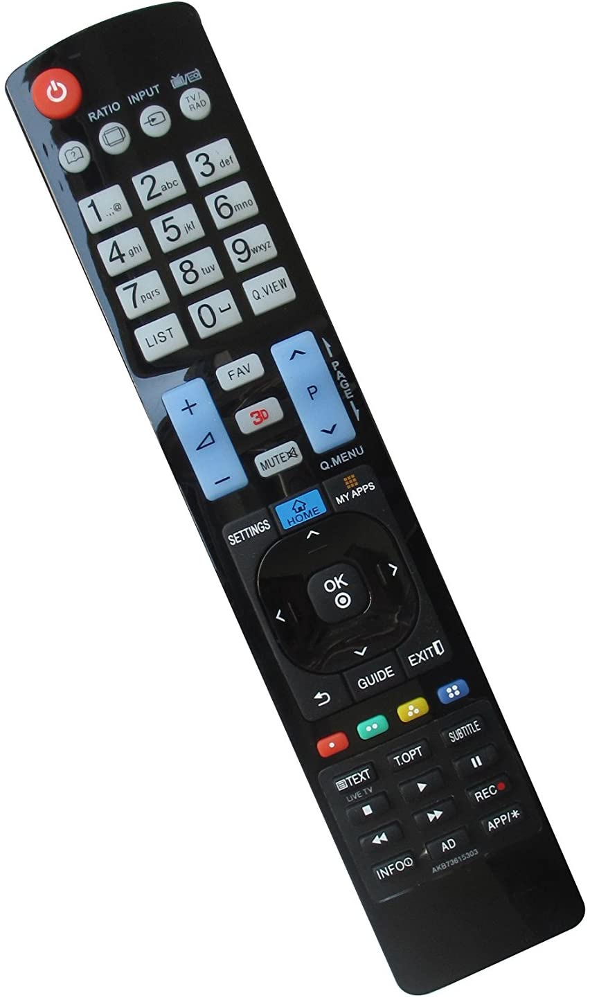Replacement Remote Control Fit for LG Zenith Z50PV220-UA 42LB5510 AKB73655806 AKB73655839 32LB580B 50LB5800 55LB5800 50LA6620 55LA7410 55LA6620 32LE5500 37LE5500 42LE5500 Smart 3D Plasma HDTV TV