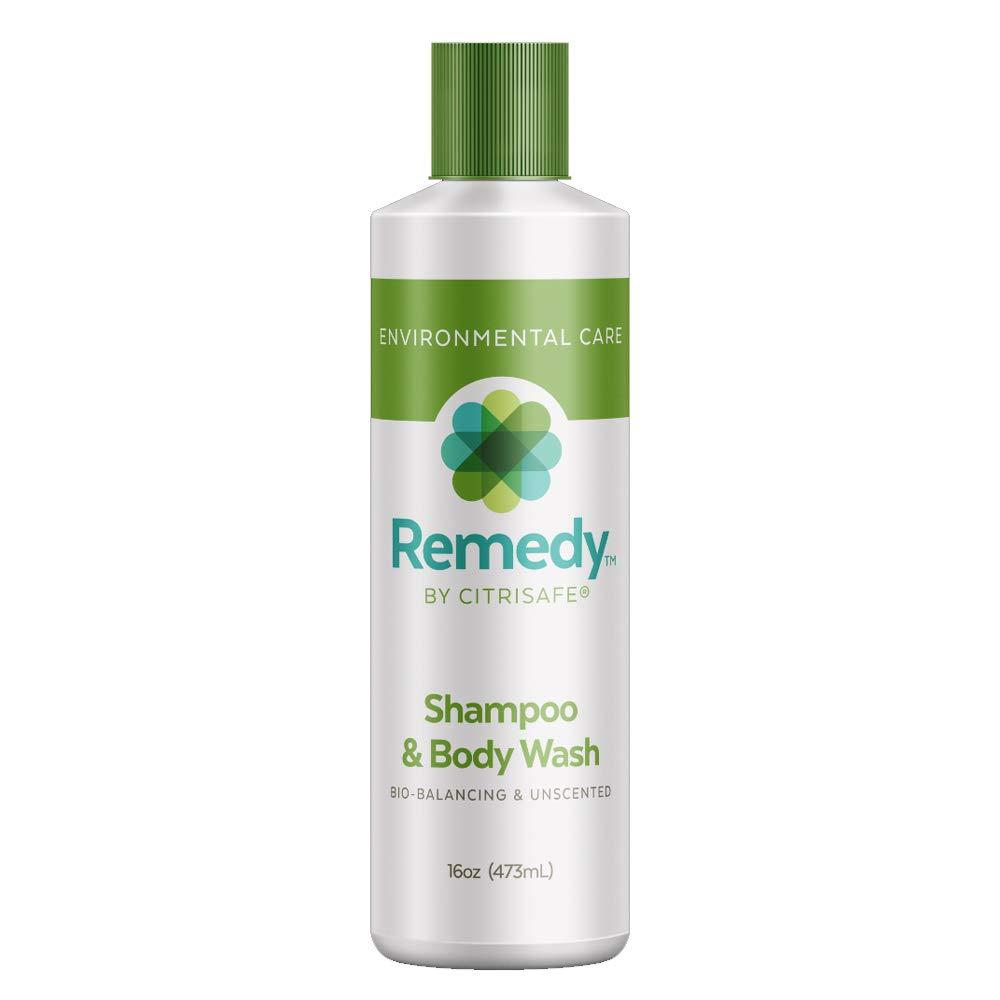 CitriSafe Remedy Bio-Balancing Shampoo & Body Wash - Body Wash and Clarifying Shampoo For Build Up - Fragrance Free - 16 oz.