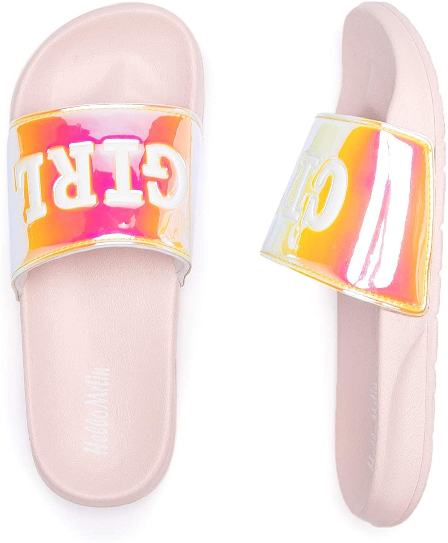 Hello MrLin Women's Sliders Dazzling Fashion Slippers Sandles Arch Support Sandals flip Flops for Women