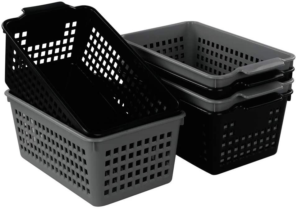 Vababa 6-Pack Small Storage Basket, Multi-color, 10.4