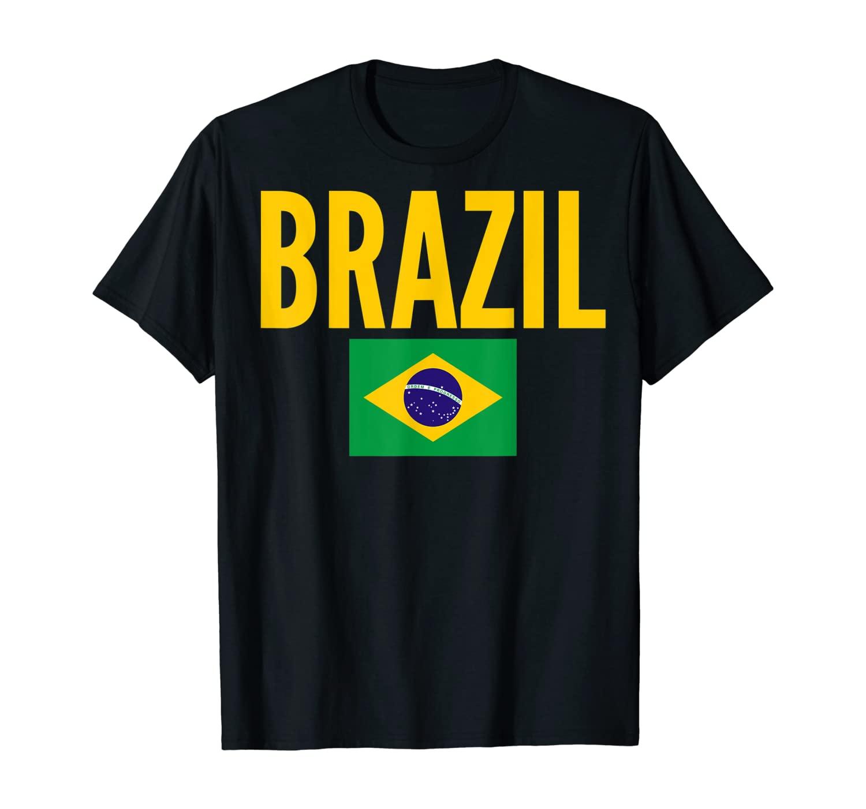 Brazilian Gift - Brazil Country Flag T-Shirt