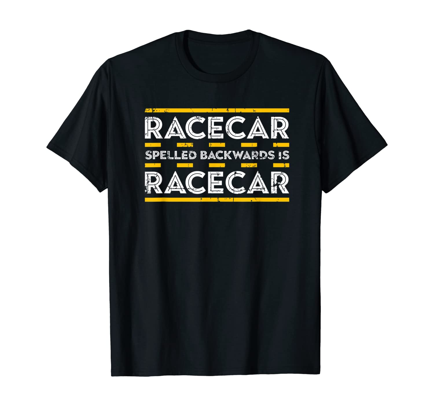 Car Racing Gifts Racing Shirt Racecar Spelled Backwards T-Shirt