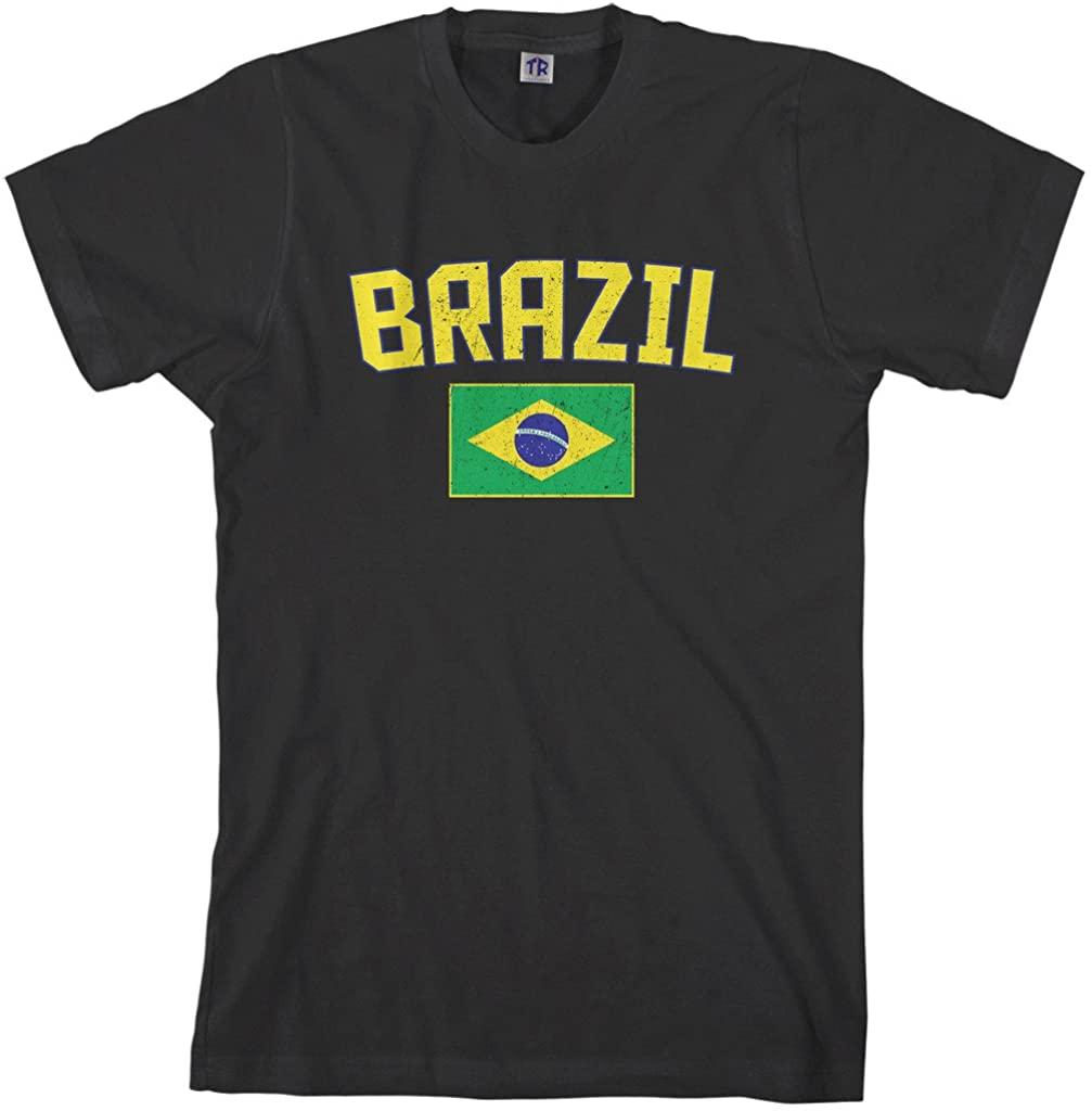 Threadrock Men's Brazil Flag T-Shirt