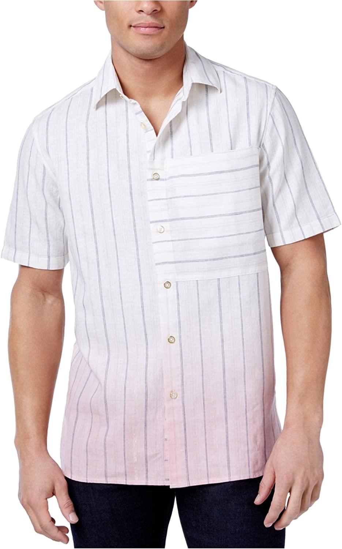 Sean John Mens Dip Dye Button Up Shirt