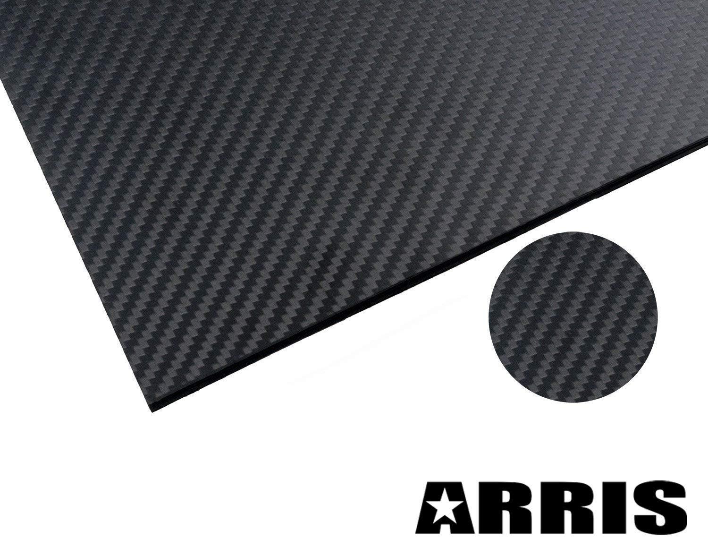 Arris 200X300X2.5MM 100% 3K Pure Carbon Fiber Plate Panel Laminate Sheet 2.5mm Thickness (Matt Surface)