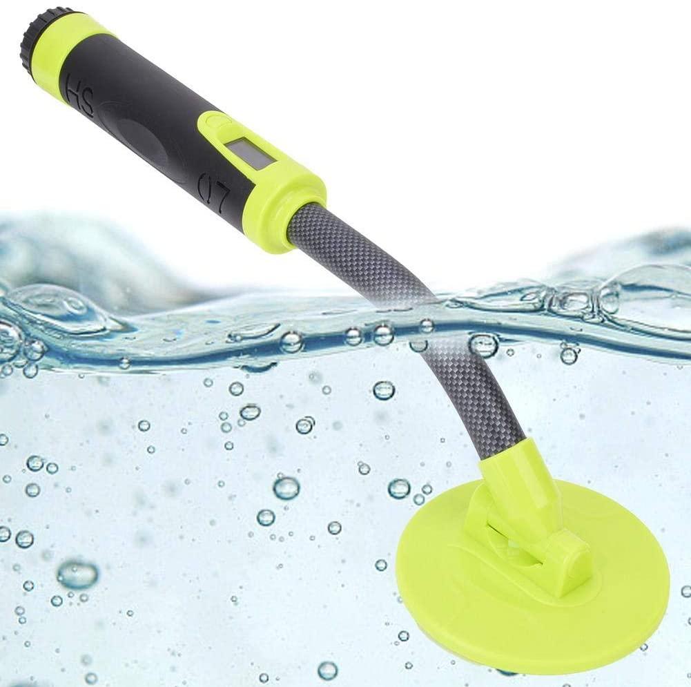 Handheld Metal Detector, HS-07 High Sensitivity IP68 Fully Waterproof Tester 5 Meters, Sound/Vibration/Sound + Vibration(Green)