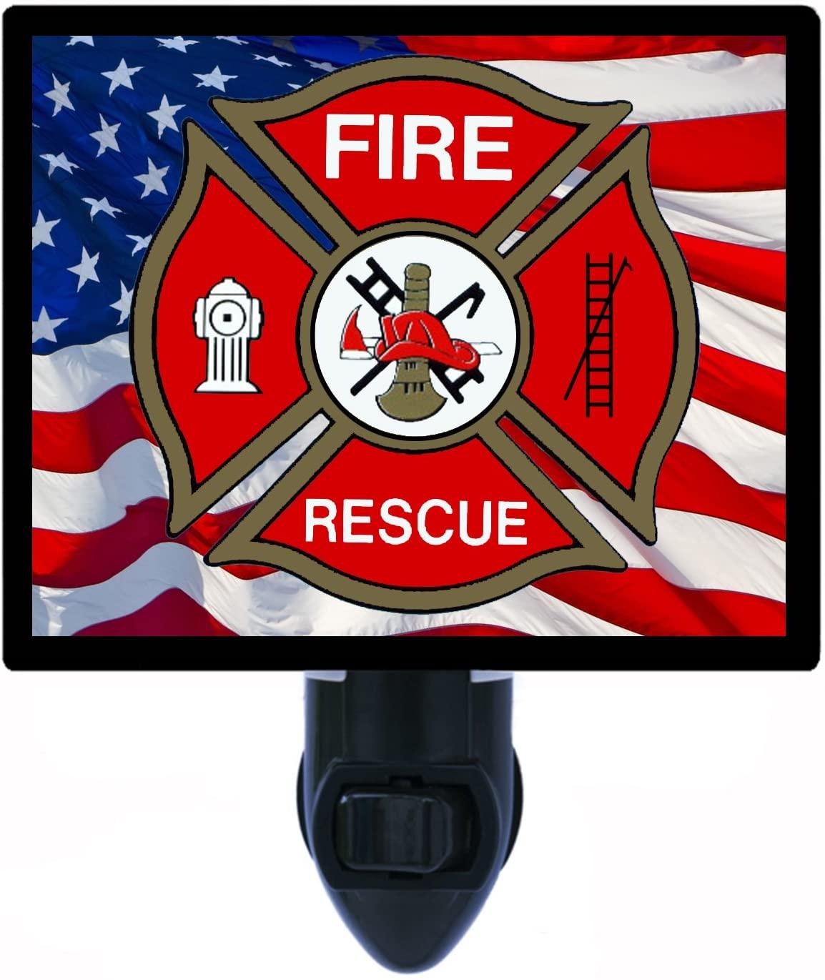 Firefighter Night Light, Fire Rescue, LED Night Light