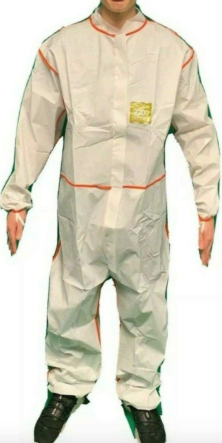 Ansell Personal Protective Hazmat Chemical Coverall Suit XLARGE PPE