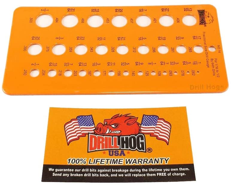 Drill Hog Drill Gauge Check and Measure Drill Bits or Holes