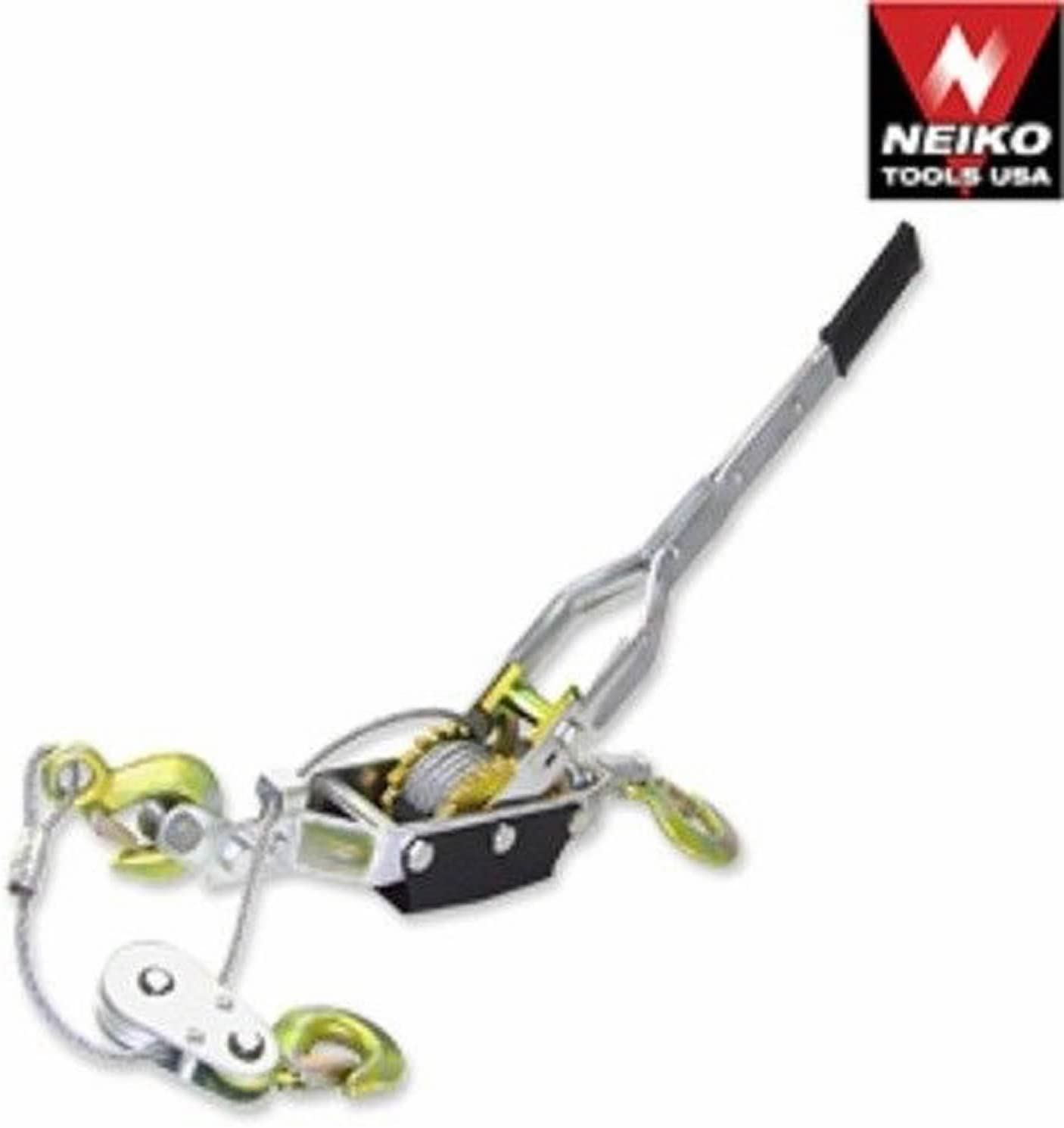 Neiko 5 Ton Hand Come A Long Ratchet Winch Power Puller Hoist Cable Pulling Tool