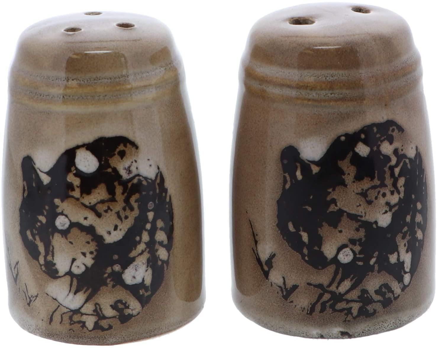 Animal Salt & Pepper Shaker Sets for Men Kitchen Home Décor - Wolf