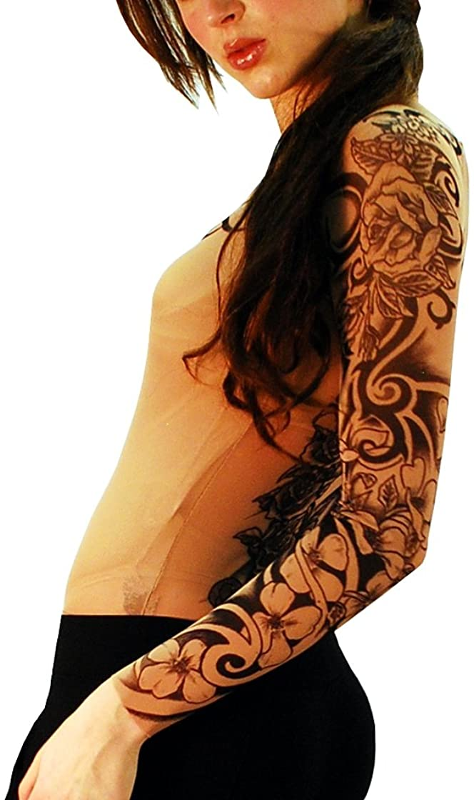 Wild Rose Ladies Flamenco Pure Faith Tattoo Mesh Shirt, Tan, Small