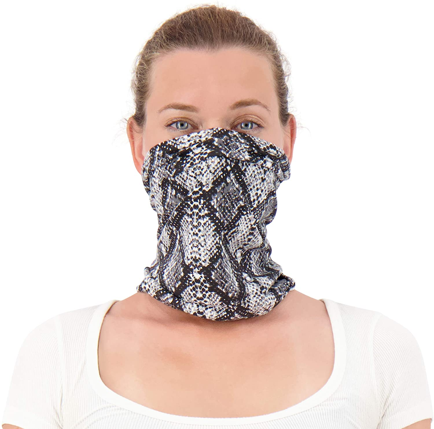 Twisted Neck Gaiter Mask for Men and Women - Cooling Neck Gaiter Made in USA - Cooling Neck Gators Face Mask for Women & Men | Animal Neck Gaiter