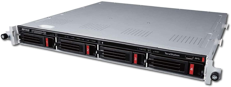 BUFFALO TeraStation 3410RN Rackmount 8 TB NAS Hard Drives Included (2 X 4TB, 4 Bay)