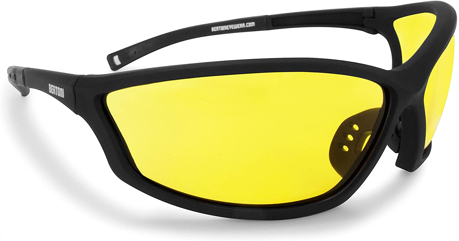 Bertoni Prescription Sports Safety Sunglasses with Optical Clip & 100% UV Protection Windproof Antifog Lens AF100 Italy
