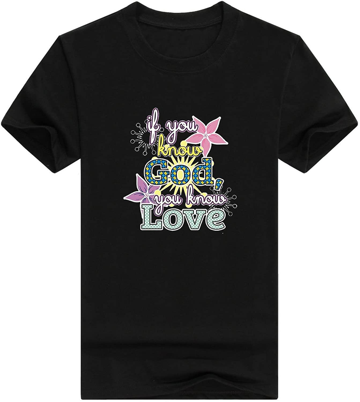 Christian Gifts Know God Know Love Premium Crewneck Men's t-Shirt