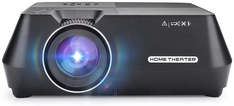 Tosuny 480p LCD Mini Portable Projector Home Cinema Theater Media Player, 480p Lcdmini Prtable Projector with 1080p Hd Remote Control, Diffuse Imaging Video Projector for Healthier Viewing(Black)