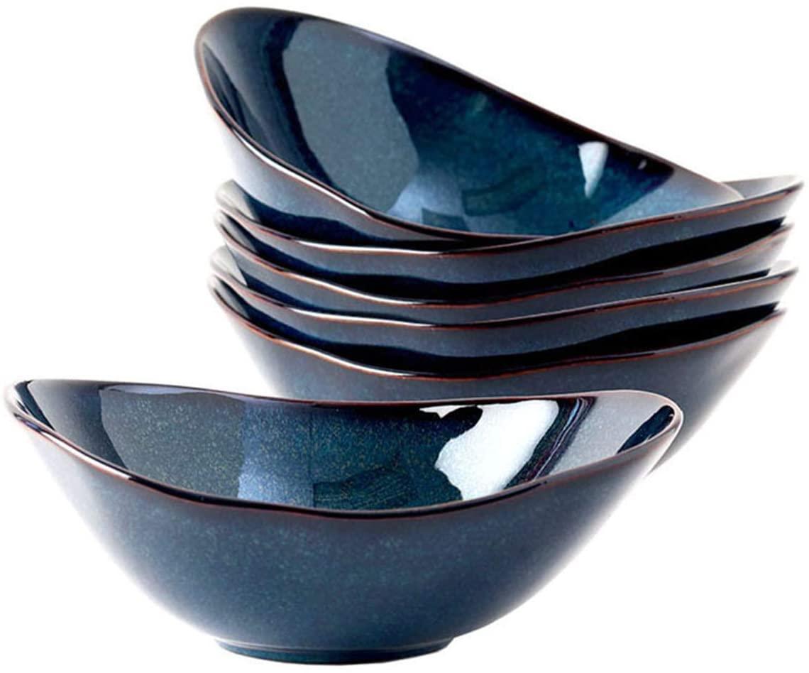 Tuxton Home THGAN403-6B Artisan Angled Bowl, 20-Ounce, Night Sky Blue
