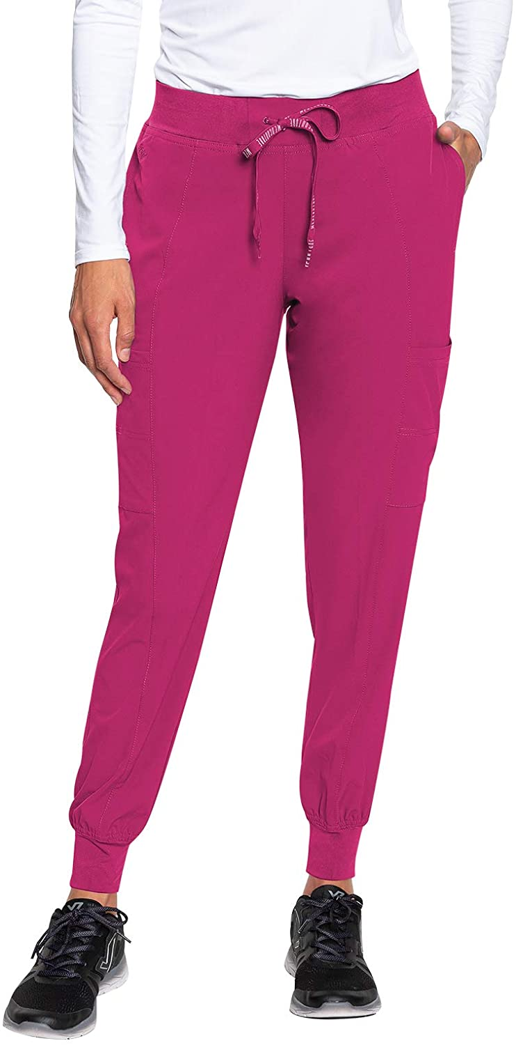 Med Couture Peaches Women's Seamed Jogger Pant, Pink Punch, X-Large Petite