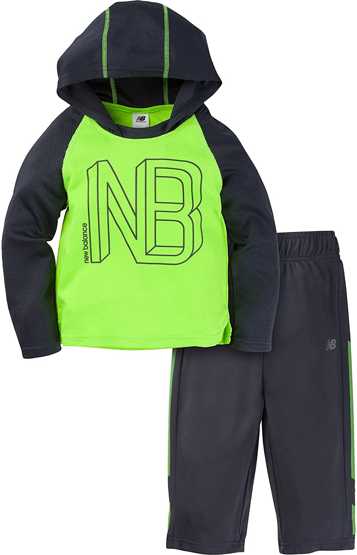 New Balance Baby Boys Long Sleeve Hooded Top & Pant Set