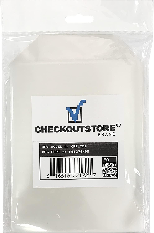 CheckOutStore 50 Clear Storage Pockets (5 5/8 x 7 3/8)