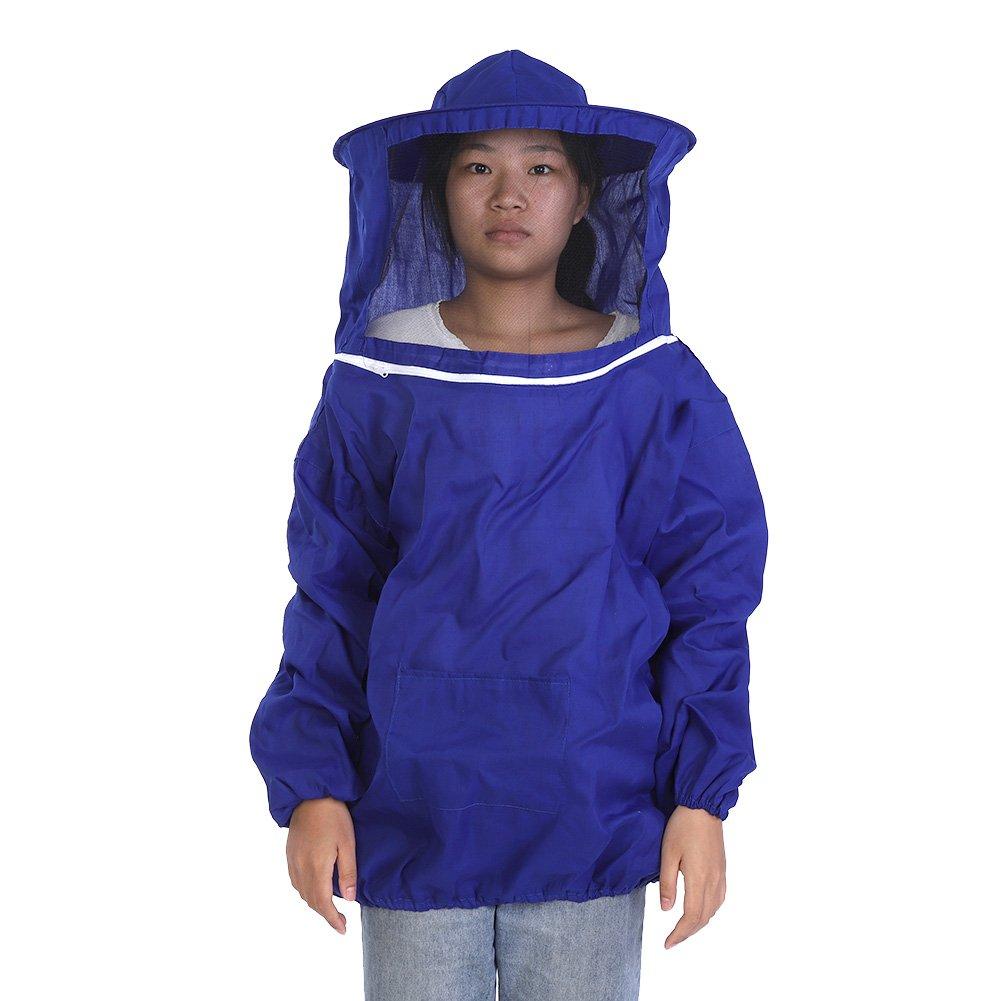 SOONHUA Bee Keeper Outfit,Bee Keeping Gear,Professional Beekeeping Protective Jacket Suit Bee Keeping Beekeeper Equipment Blue