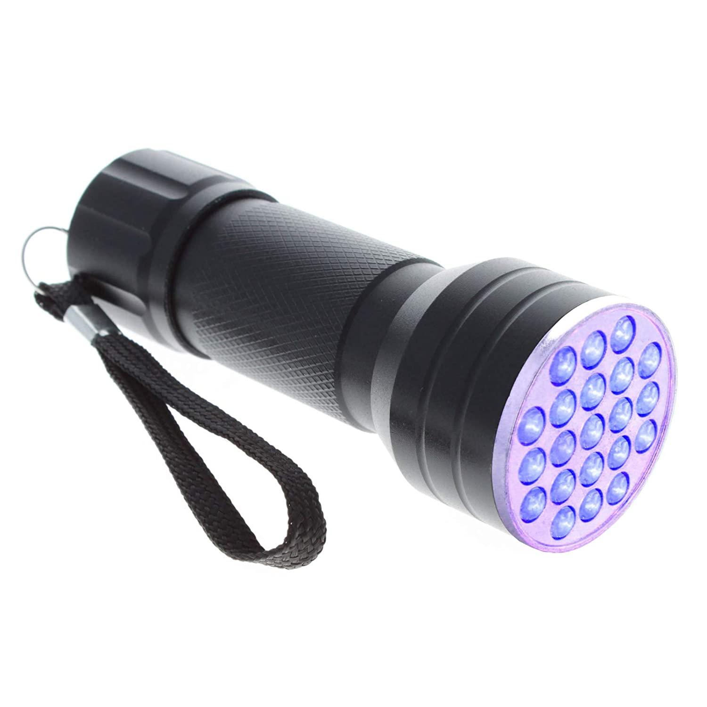 ASR Federal 21 Bulb UV Light LED Flashlight Black Light Crime Scene Investigate