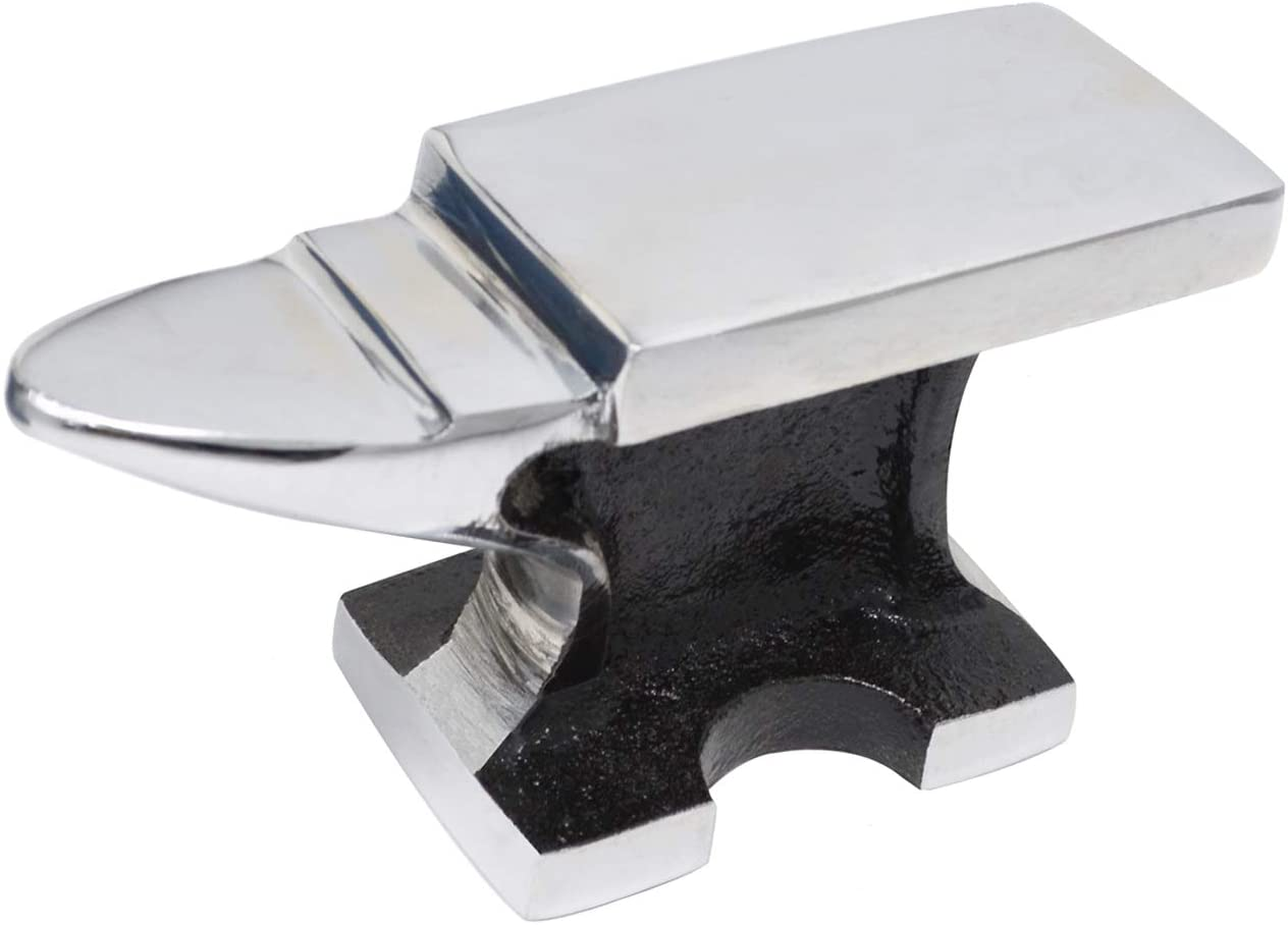 2 Lb Solid Cast Steel Chrome All-Purpose Jewelers Horn Anvil Bench Metalsmith Forming Work Surface Tool