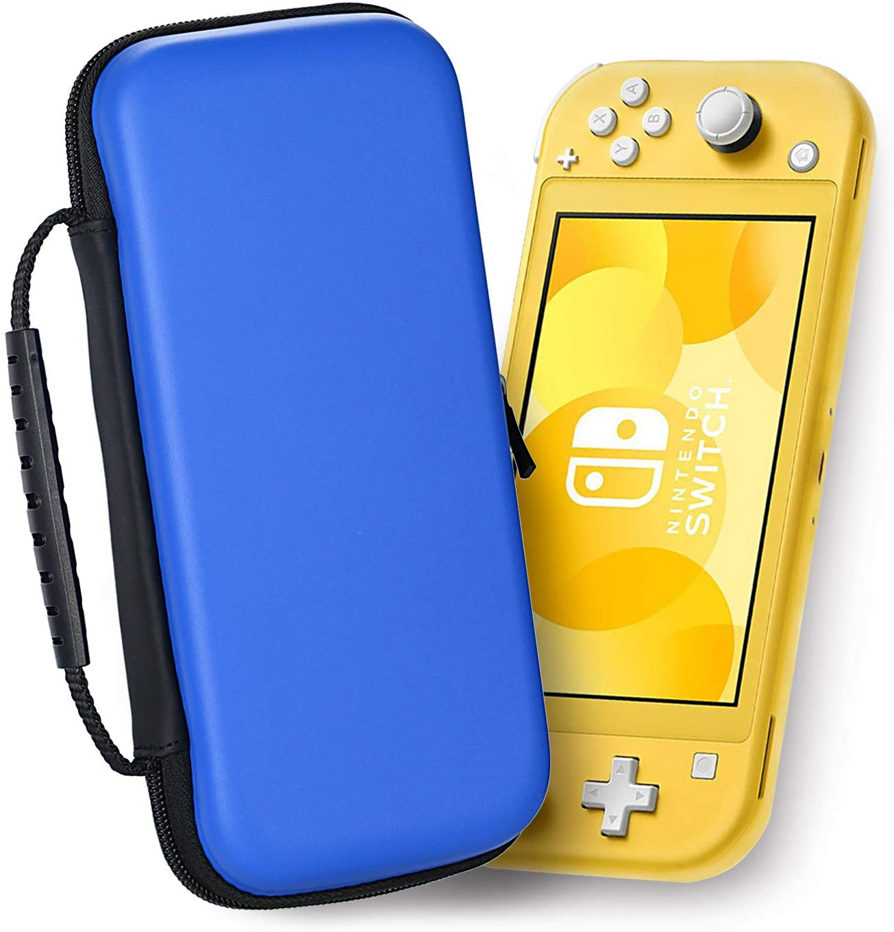 Carrying Case for Nintendo Switch Lite, Portable Hard Shell Travel Protective Case, 8 Game Card Storage by WeiBonD (Blue)