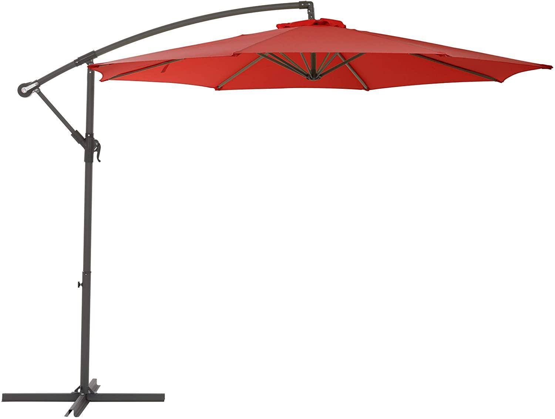 CorLiving PPU-480-U Patio Umbrella, Crimson Red